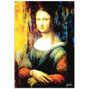 Metal Art Studio 'Mona Lisa Ageless Charm' by Mark Lewis Painting Print