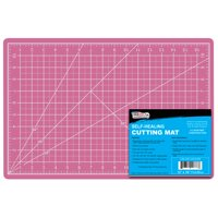 "9"" x 12"" PINK/BLUE Self Healing 5-Ply Double Sided Durable PVC Cutting Mat"