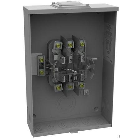 200A steel 3RNEMA 3/4WPh 600V 7jaw meter socket - Milbank u7422-rxl