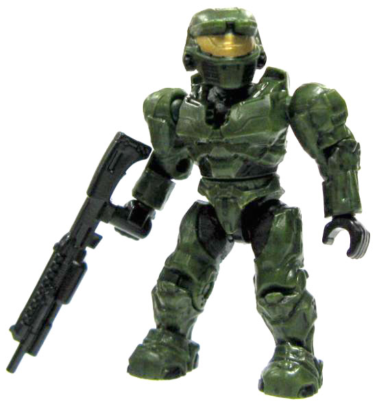Mega Bloks Halo Series 5 Mark VI Spartan Minifigure [Green]