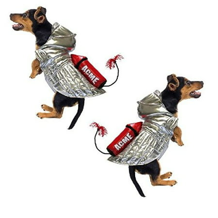 Dog Costume - ACME ROCKET SILVER SPACE DOG COSTUMES - Roadrunner(Size
