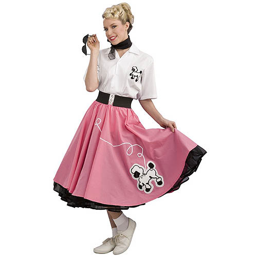Women's Pink '50s Poodle Adult Halloween Costume