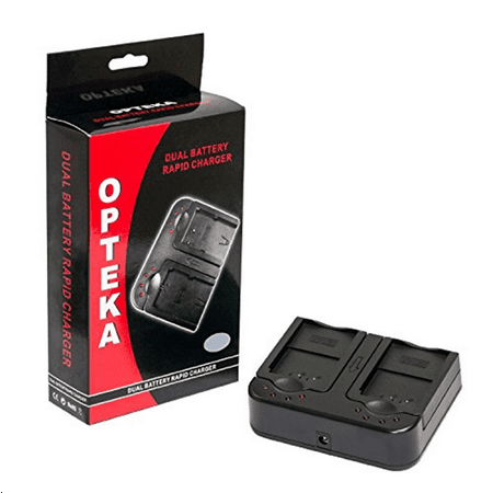 Opteka DBC-LPE6 AC/DC Dual Battery Rapid Charger for Cano...
