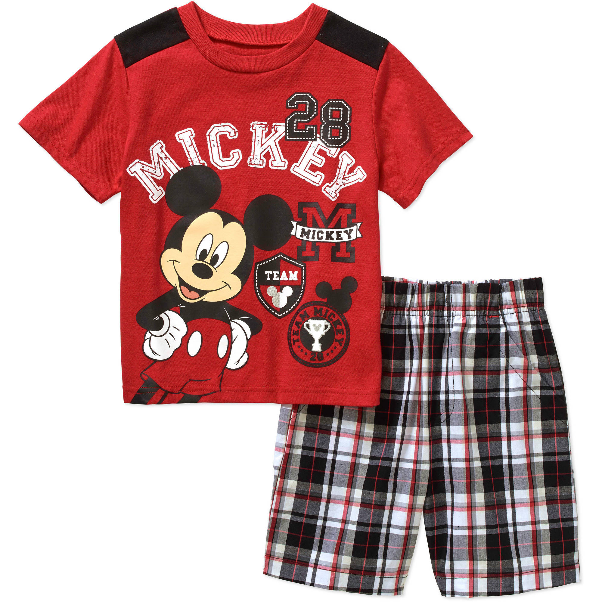 Mickey Mouse Toddler Boy Varsity Tee and Shorts Outfit Set