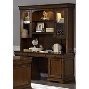 Liberty Furniture Chateau Valley Executive Credenza w/Hutch in Brown Cherry