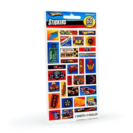 Hot Wheels Stickers (amscan - hot wheels speed city stickers (2)