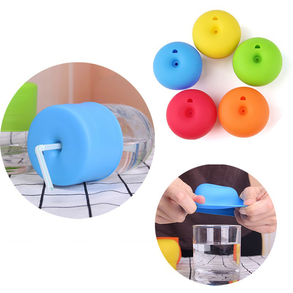 Directer Non-toxic Suction Cup Cover Kid Silicone Lids Suck Bottle Anti-dust Home Tool