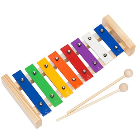 Glockenspiel Xylophone Wooden Mallets And Educational Music Pattern Song Book