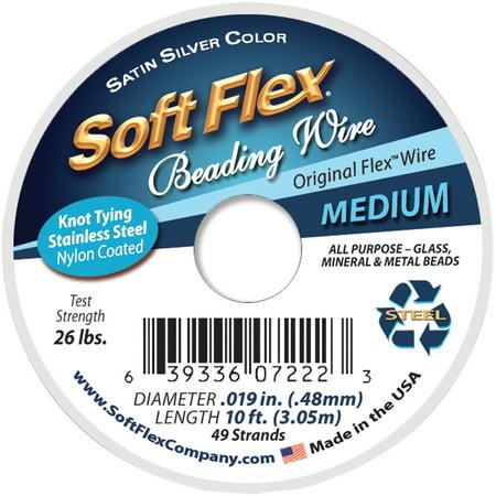 """Soft Flex Wire 49-Strand .019""""X10'-Silver - image 1 de 1"""