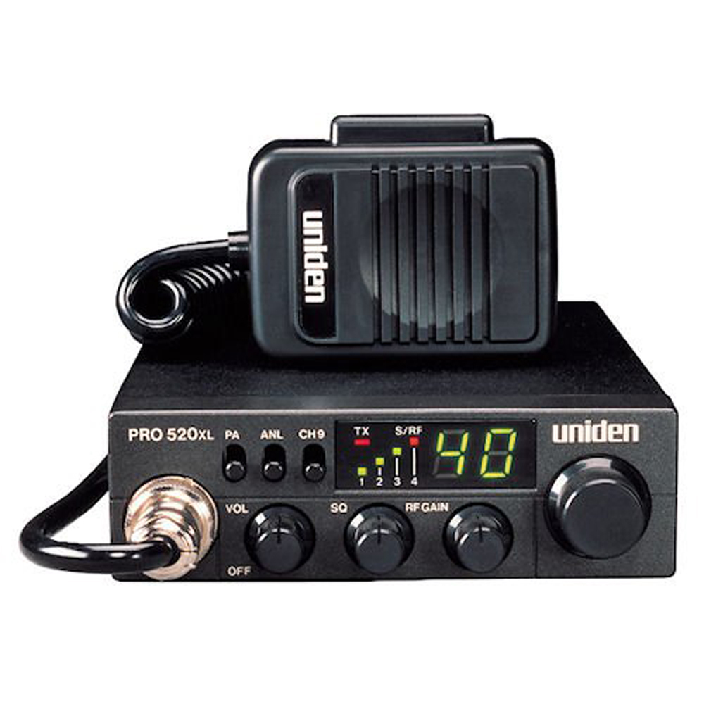 NOAA Weather Auto Noise Limiter and Full Channel Scan High//Low Power Saver switch HI = 4W; LOW = 1W Uniden PRO501HH Professional Series 40-Channel Portable Handheld CB Radio Large LCD Display