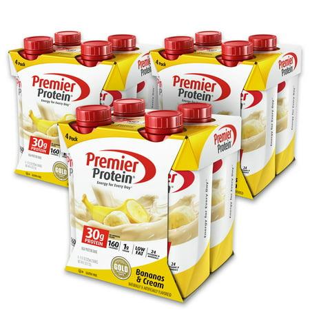 Premier Protein Shake, Bananas & Cream, 30g Protein, 11 Fl Oz, 12
