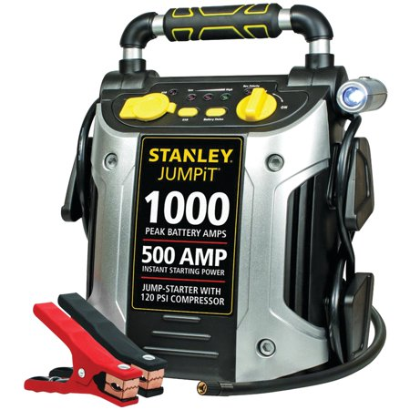 STANLEY 1000/500 Amp Jump Starter w/120 PSI Compressor (Best Portable Battery Jumper)
