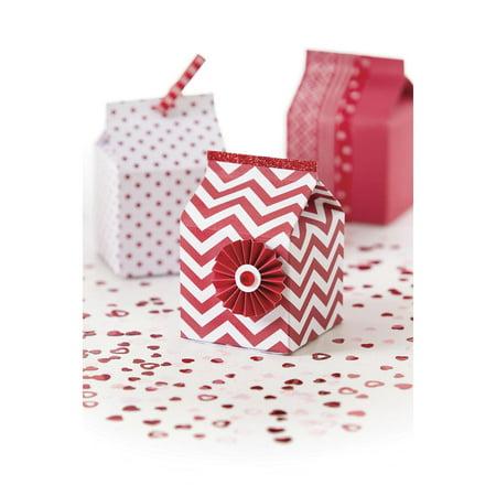 Darice Paper Milk Cartons: Red Assort., 3 x 5 inches, 12 pack