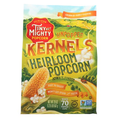 Tiny But Mighty Popcorn Popcorn - Unpopped Kernels - Case of 8 - 20 (Best Way To Store Unpopped Popcorn)