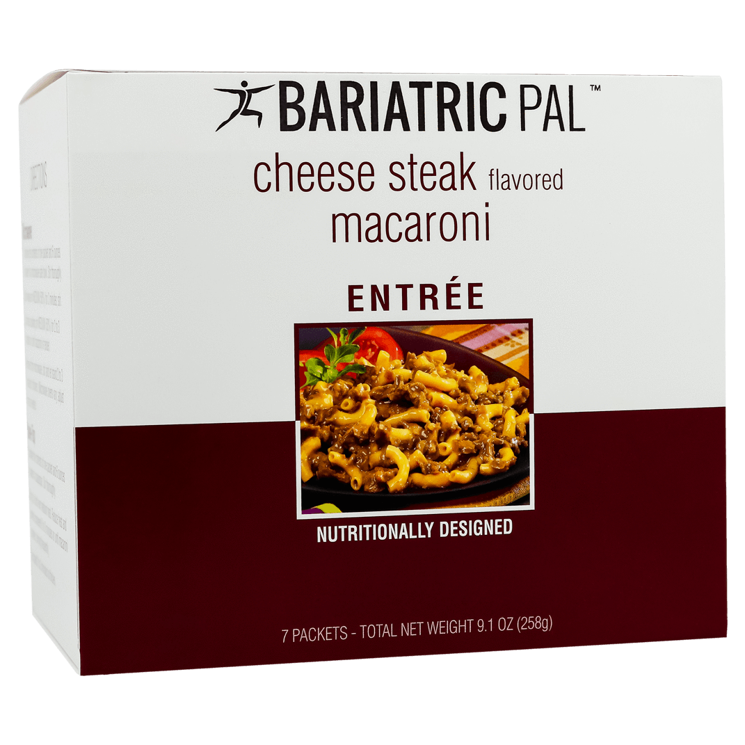 Click here to buy BariatricPal Protein Entree Cheese Steak Macaroni.
