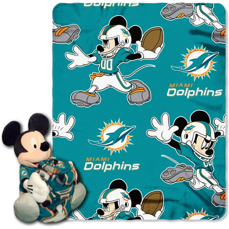 Disney NFL Miami Dolphins Hugger Pillow and 40