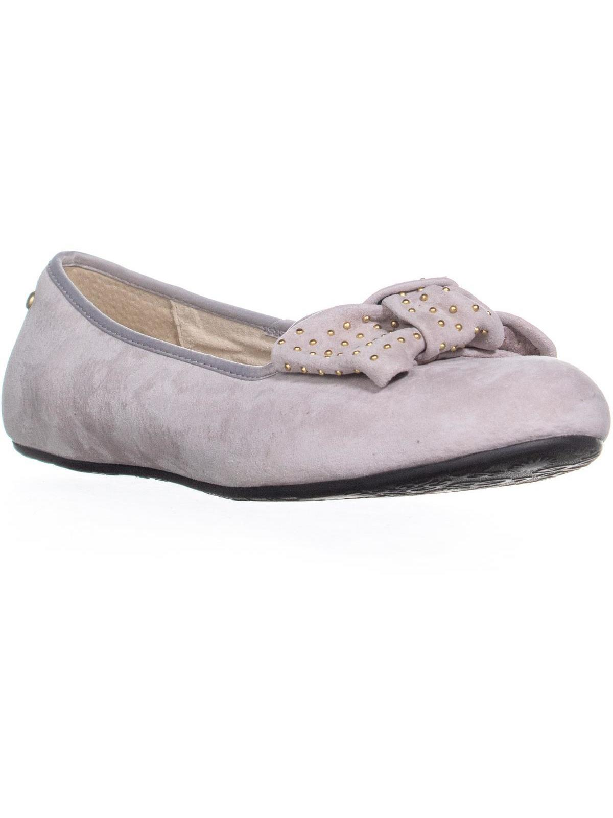 7e5886b5d52 Womens UGG Australia Alloway Studded Bow Flats, White, 8 US / 39 EU