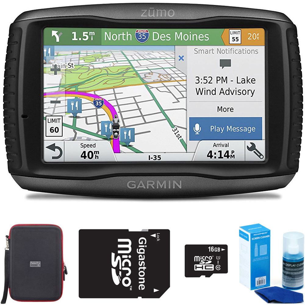 Garmin Zumo 595LM Motorcycle GPS Navigator Bundle include...