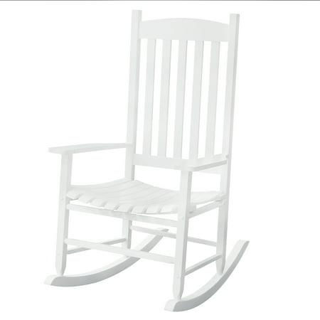 Phenomenal Mainstays Outdoor Wood Slat Rocking Chair White Brickseek Pdpeps Interior Chair Design Pdpepsorg