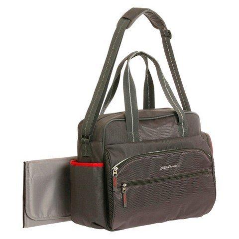 Diaper Bag P & S Black / Red By Eddie Bauer