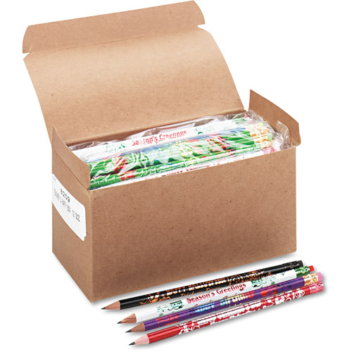 Moon Products Award Woodcase Pencil, Party Assortment, HB #2, Box of 144