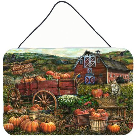 - Caroline's Treasures Pumpkin Patch and Fall Farm by Tom Wood Painting Print Plaque