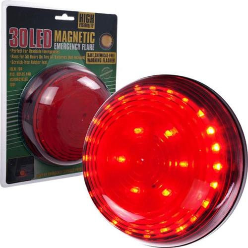 Trademark Poker Super BrightT 30 LED Magnetic Emergency Flasher - Red