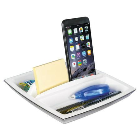 Kantek Rotating Desktop Organizer (Kantek Two-Tone Rotating Smart Desk Organizer, White/Black)