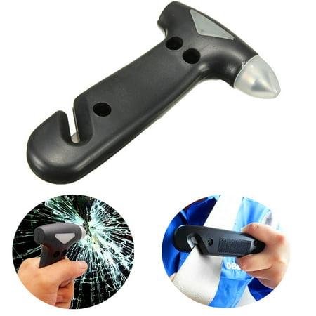 2 In 1 Car Hammer Safety Escape Tool Window Glass Breaker Belt Cutter AUTO Emergency Life-Saving - Max 2 Cutter Head Hammer