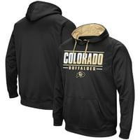 Colorado Buffaloes Colosseum Dean Slash Stack Pullover Hoodie - Black