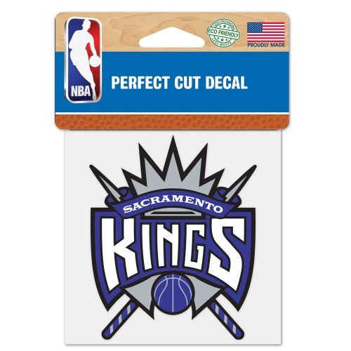 "Sacramento Kings Perfect Cut Color Decal 4"" x 4"" ASFS"
