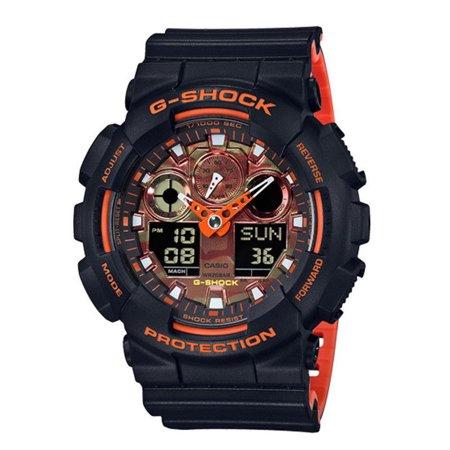 Casio G-Shock GA100BR-1A Analog Digital Black and Orange (Best Deals On Casio Watches)