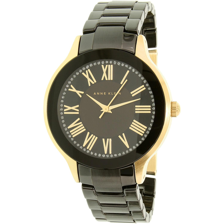 Anne Klein Women's AK-1948BKGB Black Ceramic Quartz Watch