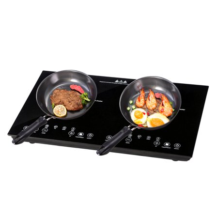 Duel Burners (Yescom Electric Dual Induction Cooker Countertop 1800W ETL Approved Double Burner Cooktop Digital Touch Panel Kid Lock )