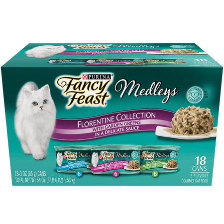 (Purina Fancy Feast Medleys Florentine Collection Adult Wet Cat Food Variety Pack - (18) 3 oz. Cans)