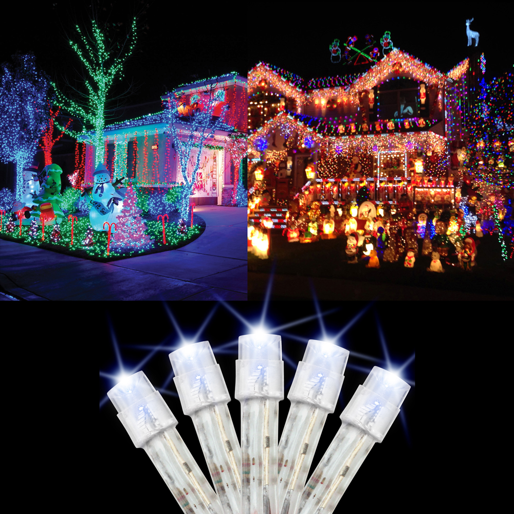 100 Light LED 30 Feet Tree Light String Fairy Lamp Christmas Indoor Lights Party Wedding Outdoor Garden Xmas Decor - White