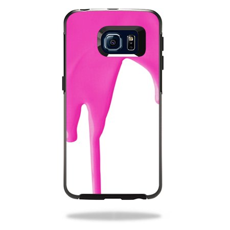 MightySkins Protective Vinyl Skin Decal for OtterBox Symmetry Galaxy S6 Edge Case wrap cover sticker skins Pink Drip