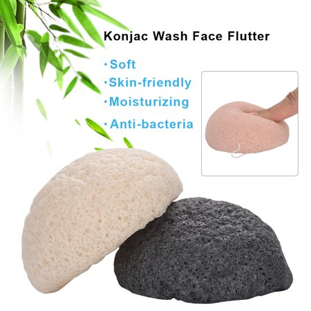 Yosoo 5 Colors Round Konjac Wash Face Flutter Natural Facial Care Cleansing Gently Facial Puff, Natural Konjac, Facial Puff - image 3 of 9
