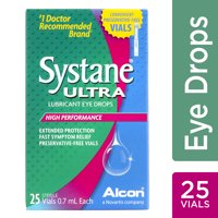 SYSTANE ULTRA Lubricant Eye Drops for Dry Eye Symptoms, 25 Preservative-Free Single Use Vials