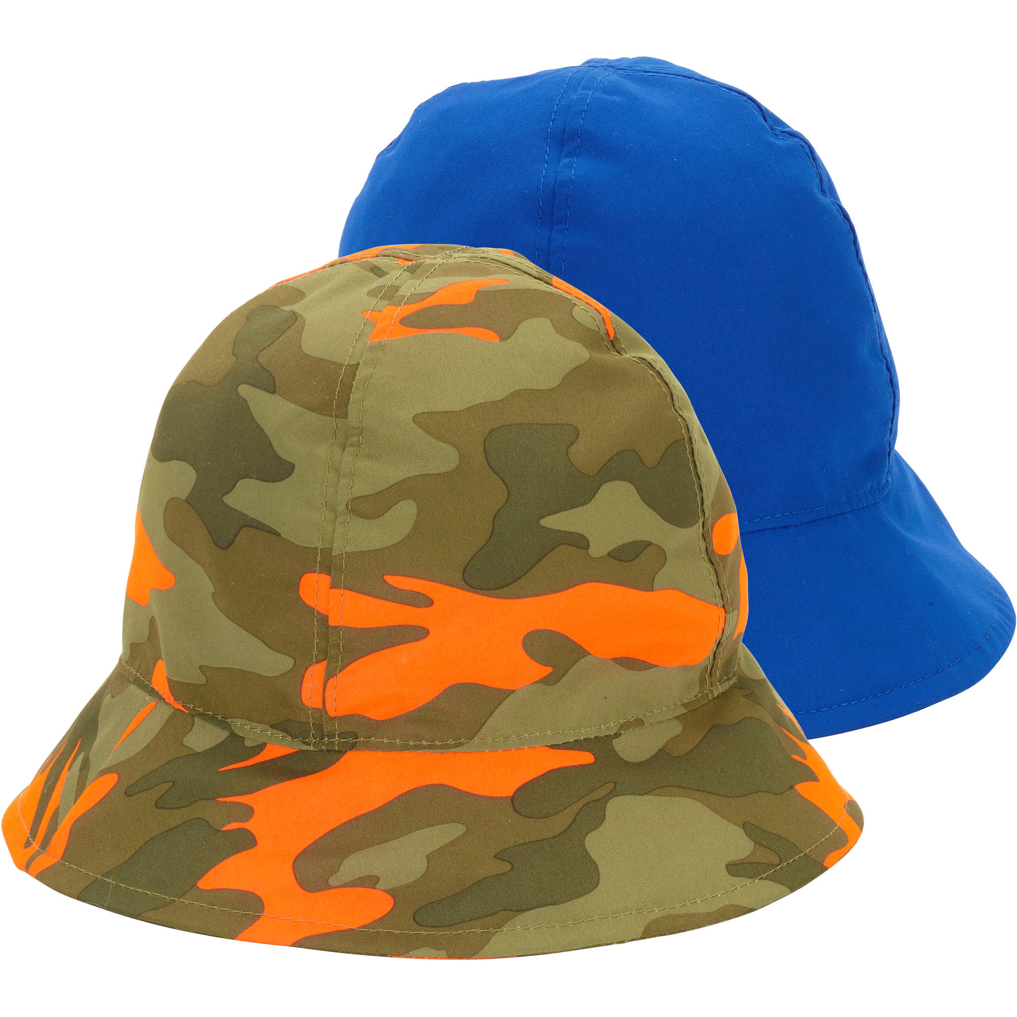 Op Baby Toddler Boy Solid & Printed Swim Bucket Hats - 2 Pack
