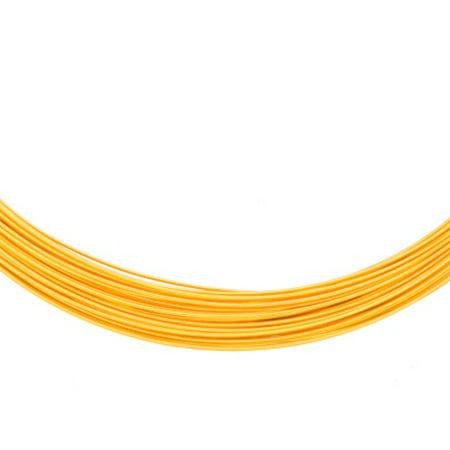Aluminum Beading Wire, Anodized Gold 23Gauge 48-foot coil jewelry wire