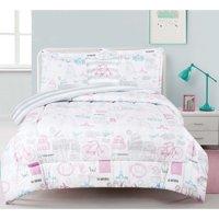 World Traveler 4pc Comforter set with Decorative Pillow