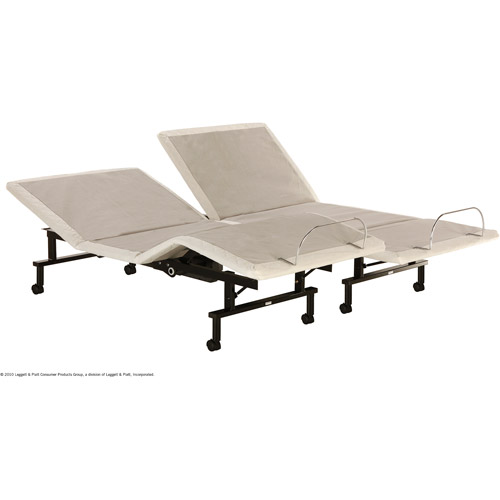 shipshape adjustable bed frame, split king - walmart