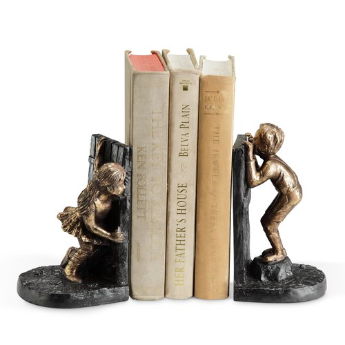 SPI Home Girl Boy Hide and Seek Book Ends (Set of 2)
