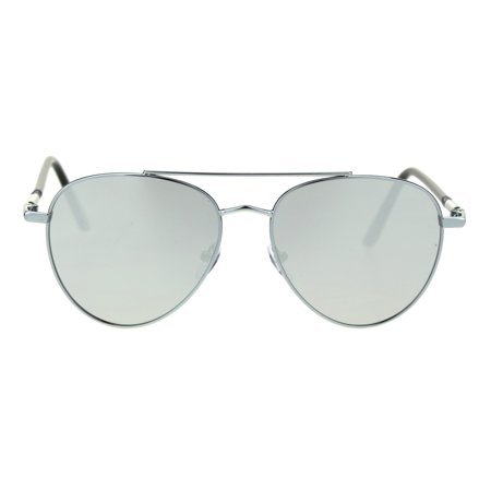 Mens Air Force Pilots Luxury Officer Style Tear Drop Sunglasses Silver (Air Force Style Sunglasses)