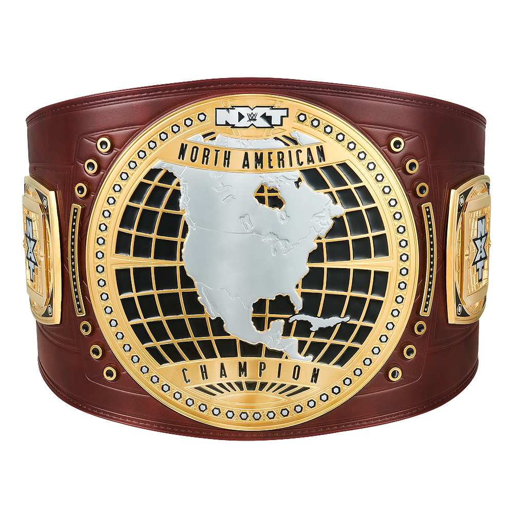 Official WWE Authentic NXT North American Championship Replica Title Belt Dark Brown