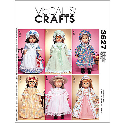 """McCall's Pattern 18"""" Doll Clothes, 1 Size Only"""