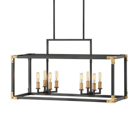 Hinkley Lighting 4298 Louis 8 Light 35 Wide Linear Chandelier