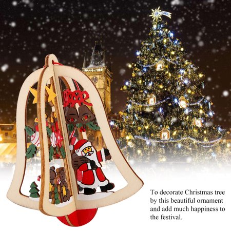 Wooden Hanging Ornament Decorative Pendant for Christmas Tree Xmas Festival Room Decoration,Christmas Tree Hanging Ornament, Christmas Decoration