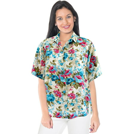 women 39 s casual button down relaxed fit floral designer